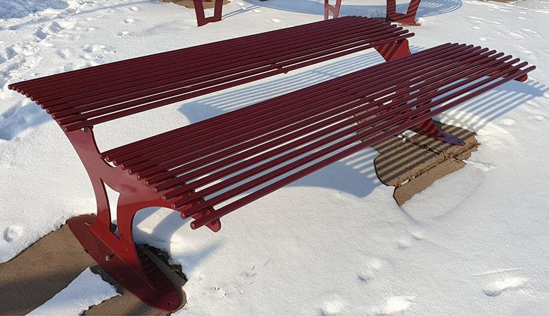 Замовити антивандальну металеву лавку Prime 0014 українського виробництва для саду і парку